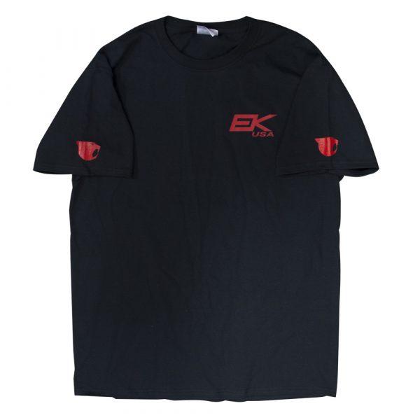 ek black shirt red print