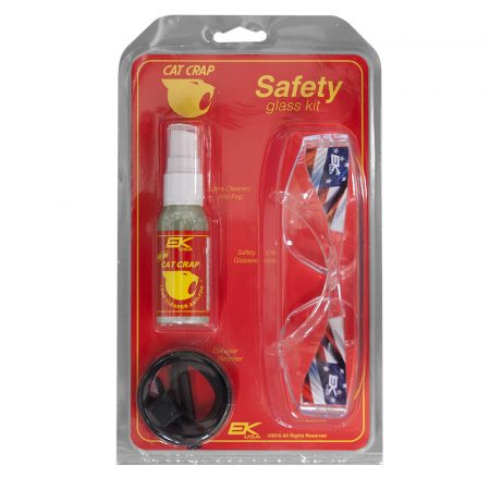 cat crap safety glass kit clear